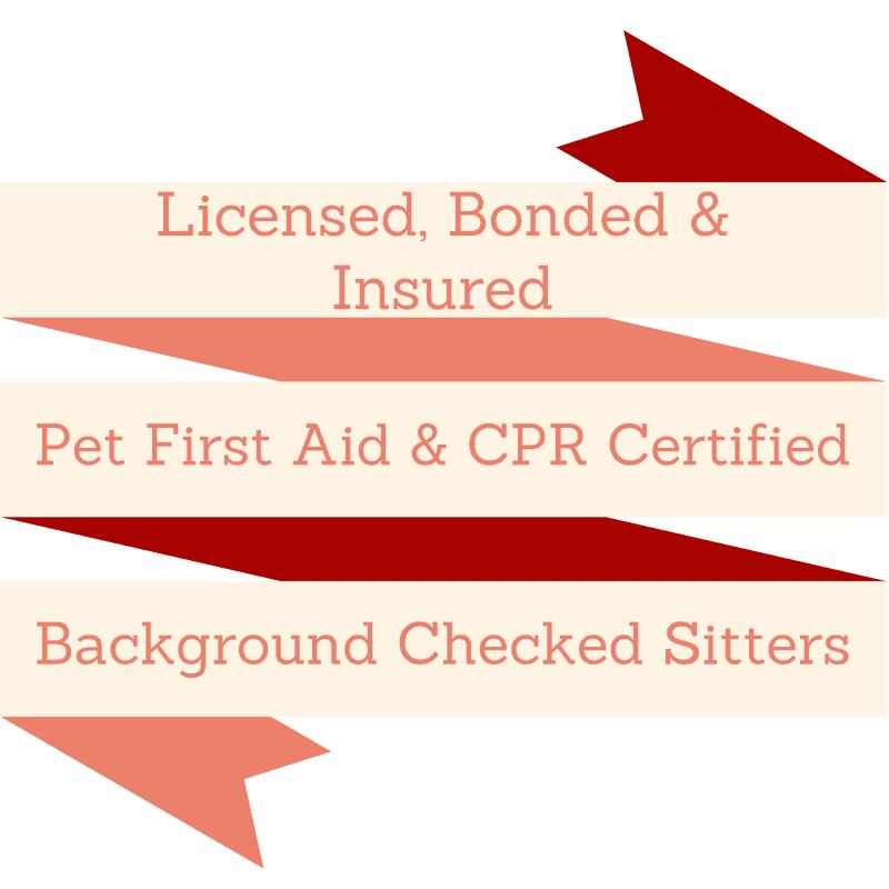 pet cpr, licensed, bonded and insured dog sitting